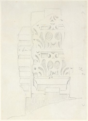 Drawing from a set of 16 architectural details in N. India made between 1786 and 1792 1801